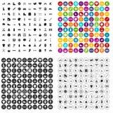 100 вектор жизни спорта установленный значками различный Стоковое Изображение RF