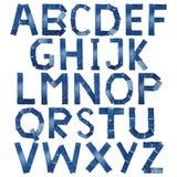 вектор джинсыов предпосылки eps10 алфавита Стоковые Изображения RF
