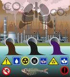 Вектор загрязнения окружающей среды бесплатная иллюстрация