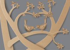 вектор замужества влюбленности карточки птицы Стоковые Изображения