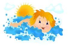 вектор заплывания малыша cdr иллюстрация вектора