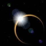 вектор затмения солнечный Стоковые Изображения RF