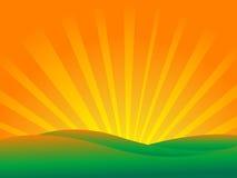 вектор захода солнца ландшафта Стоковое Фото