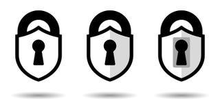 Вектор защиты Значок экрана в стиле замка Конструктивная схема графического дизайна, изолированная предпосылка бесплатная иллюстрация