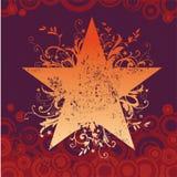 вектор звезды grunge Стоковые Изображения RF