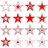 вектор звезд элементов конструкции Стоковая Фотография RF