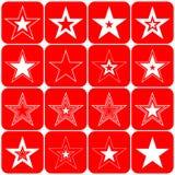 вектор звезд элементов конструкции Стоковое Изображение