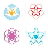 вектор звезды логосов Стоковое Изображение