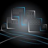 вектор зданий Стоковые Изображения RF