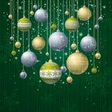вектор зеленого цвета рождества карточки Стоковое Изображение RF