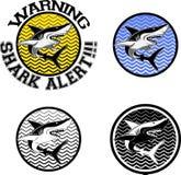 Вектор знака акулы Стоковая Фотография RF