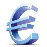 вектор знака евро металлический Стоковая Фотография RF