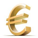 вектор знака евро металлический Стоковые Изображения