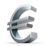 вектор знака евро металлический Стоковое Изображение