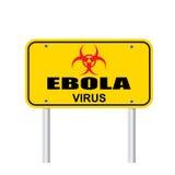 Вектор знака зоны ируса Эбола Стоковая Фотография RF
