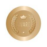 Вектор знака золота награды круглый Стоковое Изображение