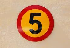 вектор знака номера 5 иллюстраций Стоковое Фото