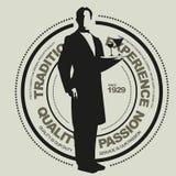 вектор знака обслуживания ресторана Стоковое фото RF