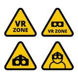 Вектор знака предосторежения зоны VR Стоковые Изображения