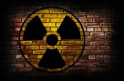 вектор знака радиации сетки Стоковые Изображения