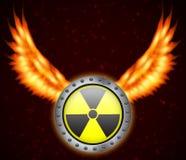 вектор знака радиации сетки Стоковое Изображение