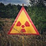 вектор знака радиации сетки Стоковая Фотография