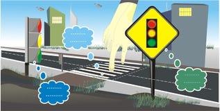 Вектор знака светофоров стоковые фотографии rf