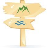 вектор знака стрелки деревянный Стоковые Фотографии RF
