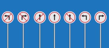 Вектор знака уличного движения установленный Стоковая Фотография