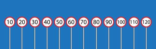 Вектор знака уличного движения установленный Стоковое Изображение