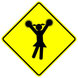 вектор знака девушки чирлидера cheerleading Стоковая Фотография RF