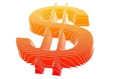 вектор знака доллара Стоковые Фотографии RF