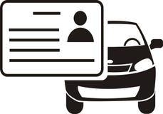 Вектор значка водительского права стоковые изображения rf