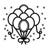 Вектор значка воздушных шаров иллюстрация штока