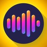 Вектор значка звука значка вектора звуковых войн Звучайте икона Стоковые Изображения
