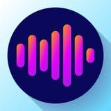 Вектор значка звука значка вектора звуковых войн Звучайте икона Стоковое фото RF