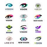 Вектор значка компании peeper света keeker идеи логотипа шаблона проблеска дневного света зрения дела мигателя глаза Стоковое Изображение