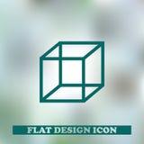 Вектор значка куба Конструкция паутины Стоковые Изображения RF