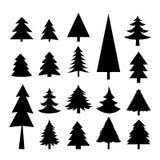 Вектор значка рождества дерева Стоковое Изображение