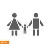 Вектор значка семьи Стоковое Изображение RF