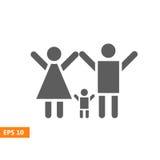Вектор значка семьи Стоковая Фотография RF