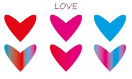 Вектор значка сердца стоковые фотографии rf