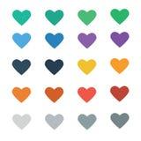 Вектор значка сердца с красочным Стоковая Фотография