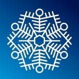Вектор значка снежинки бесплатная иллюстрация
