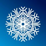 Вектор значка снежинки иллюстрация вектора