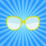 Вектор значка стекел моды солнечных очков лета битника иллюстрация вектора