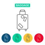 Вектор значка сумки багажа Стоковое Изображение