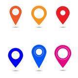 Вектор значка указателя карты Символ положения GPS Плоский хлев дизайна стоковое изображение rf