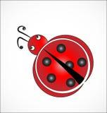 Вектор значка шаржа Ladybug бесплатная иллюстрация