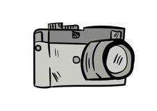 Вектор значка doodle камеры с белой предпосылкой стоковые фотографии rf